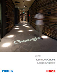 Étude de cas Google Singapore Luminous Carpets